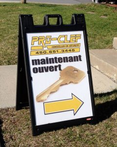 affiche chevalet longueuil