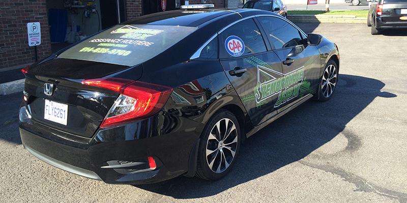 Honda Civic black wrap